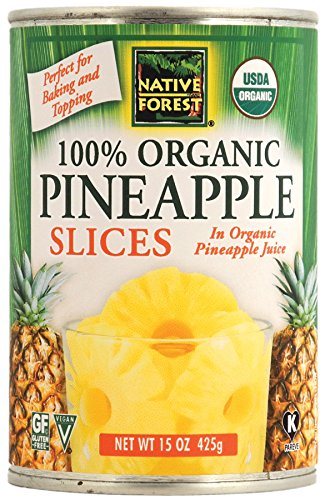 Native Forest Organic Pineapple Slices, 15-Ounce Cans (Pack of 6) -