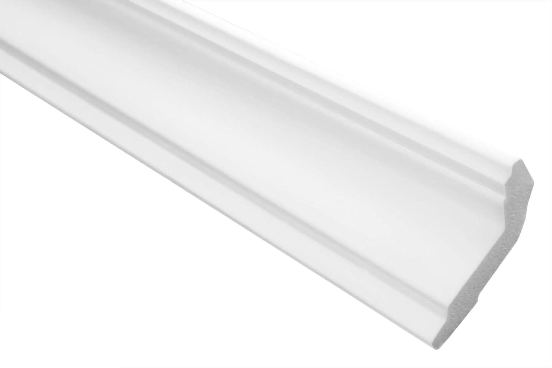 Stuckleisten aus Styropor 2 Meter 35 x 35 mm E-42 leichte und stabile Profile f/ür Decken-// und Wand/übergang modern wei/ß dekorativ XPS riesige Auswahl
