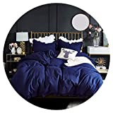 Heart to hear-pillowcase-and-sheet-sets Bedding Set Elegant Ruffles Edge Duvet Cover Set 2pcs 3pcs Bed Linen Quilt Cover Twin Queen King Wedding Gift,Navy Blue,US King 3pcs