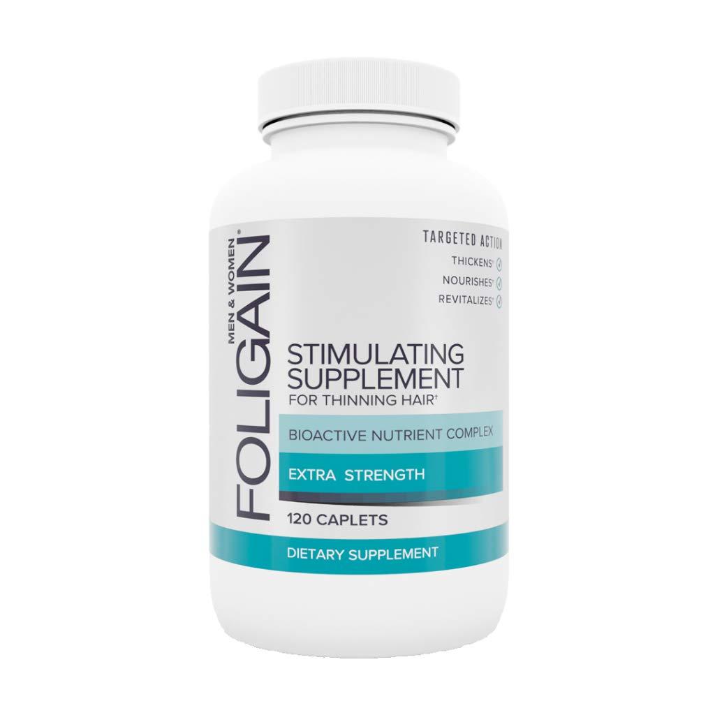 Foligain Stimulating Supplement for Thinning Hair | Healthier-Looking Hair | Hair Supplement, 120Count