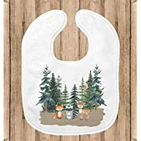 Baby Bib for Boys - 1st Birthday Party Smash Cake Bib - Woodland Animals Theme