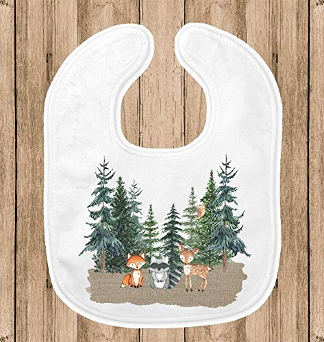 Baby Bib for Boys - 1st Birthday Party Smash Cake Bib - Woodland Animals - 1st Birthday Personalized Bib