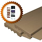 AOD Retail Weather Seal, Door weatherstrip also used as garage door seals, Garage Door Top and Side with 1 Lubricant (8 x 8, Desert Tan) - Professional grade