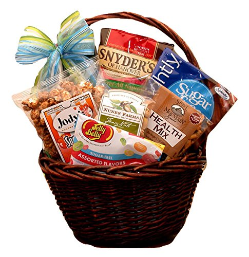 Mini Sugar Free Gift Basket - Makes a Perfect Thank You, Birthday, or Any Occasion (Any Occasion Sugar Free Candy)