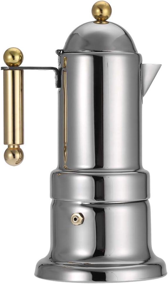 Cafeti/ère durable pot de 4 tasses Moka cuisini/ère facile /à utiliser pour la cuisine /à domicile de caf/é cafetiere italienne cafetiere