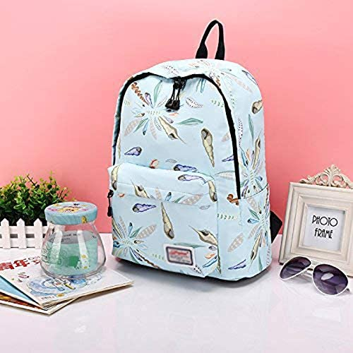 DMIZ Canvas Printed Backpack Conch Personality Pattern Small Fresh Fashion Casual Durable Daypack Waterproof Dustproof with Tear Resistant Design Travel Rucksack