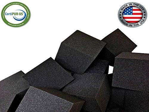 Foam Pit Cubes/Blocks 500 pcs. (CHARCOAL) 8″x8″x8″ (1536) Flame Retardant Pit Foam Blocks For Skateboard Parks, Gymnastics Companies, and Trampoline Arenas