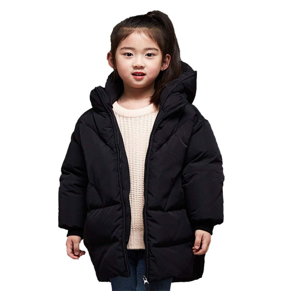 noir 150cm RSTJ-Sjc Veste en Duvet pour Fille Costume en Duvet de Canard Blanc Doudoune 120160cm, Deux Couleurs en Option