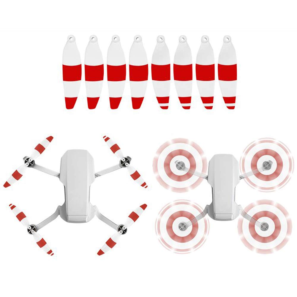 Rojo Blanco Accesorios de h/élice de flexibilidad de bajo Ruido Cuchillas de liberaci/ón r/ápida para dji Mavic Mini Accesorio Tineer H/élices de Colores Mavic Mini