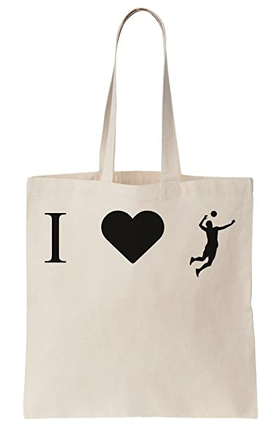 Image Unavailable. Image not available for. Color  I  3 Volleyball Canvas  Tote Bag 5f451786a81b5