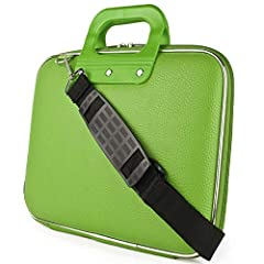 Holds everything you need in one compact bag!         Made with high quality Synthetic leather materials         Holds a laptop and a tablet at once and still has room for more!         Accordian style holder inside hold multiple fold...