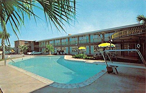 Florence South Carolina Hornes Motor Lodge Pool View Vintage Postcard K51446