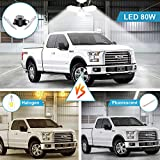 LED Garage Lights 80W Deformable 2 Pack 8000LM