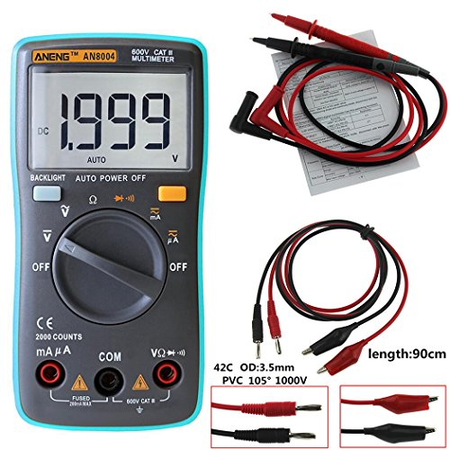 XWB AN8004 Backlight Digital Multimeter 2000 Counts AC/DC Ammeter Voltmeter Ohm Portable High Precision Meter With Combination Line by XWB