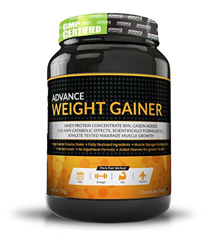 Advance Weight Gainer 1Kg (2.2Lbs) Chocolate by ADVANCE NUTRATECH