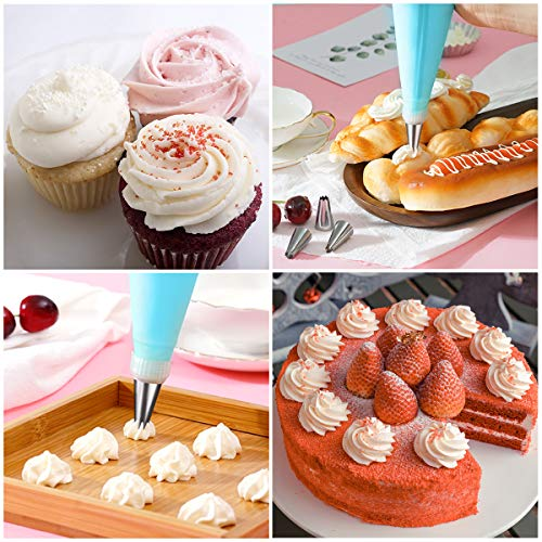 Silicone Cake Icing Bag Decorating Piping Reusable Nozzle Cupcake Baking Cream