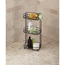 Simple Classic Design Generic Hawthorne Place 3-shelf Wire Floor Stand Bathroom Accessories, Bronze Finish