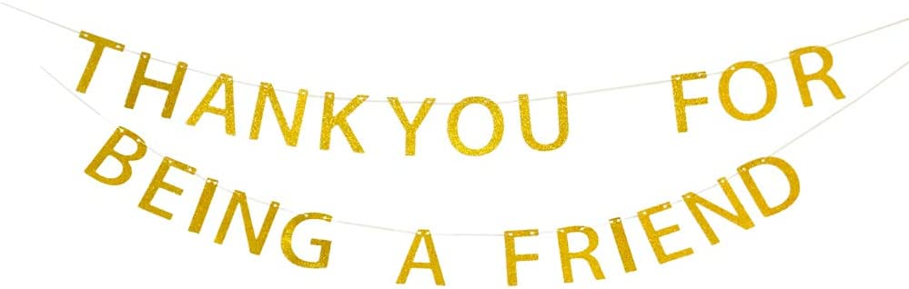 Thank You for Being A Friend Banner, Golden Girls Banner, Thank You Banner, Friend Banner, Thanks Banner