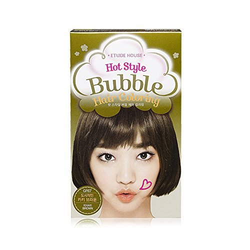 ETUDE HOUSE Hot Style Bubble Hair Coloring #GR07 KHAKI BROWN