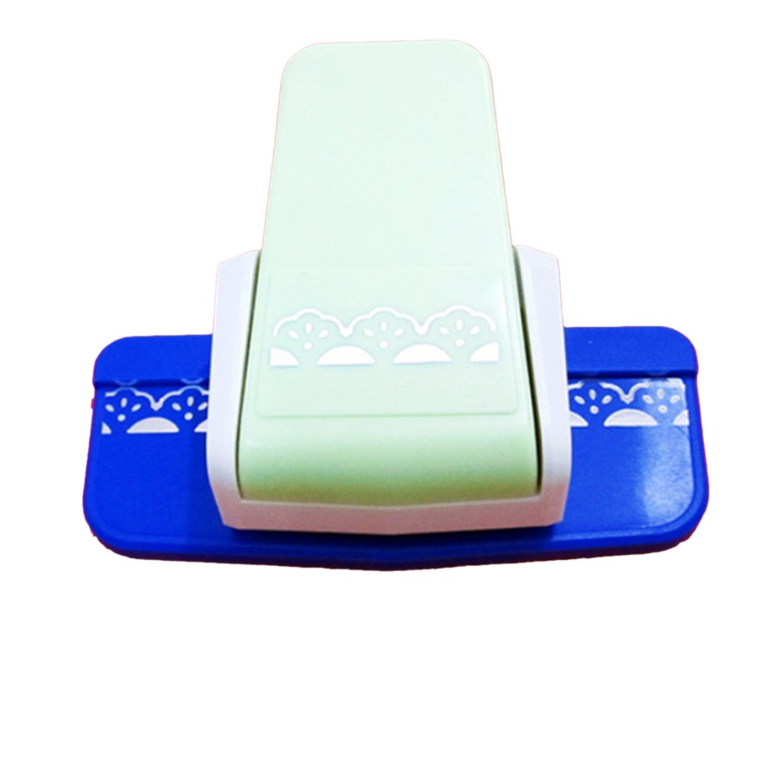 Luwu-Store Dispositif de gaufrer la Bordure du Papier et de la Carte/Machine à égrener d'impression d'éventail