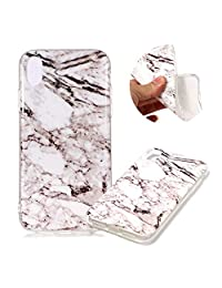 "Marble Patterns Design Cover for iPhone XS Max 6.5"", MOIKY Slim Soft Skin Touch Protective in TPU Bumper Gel Case Anti-Scratch Shock Resistant Shell for iPhone XS Max 6.5"" - White"