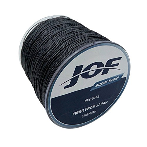 JOF 1000 Meters 4 Strands Super Strong Braided Wire Fishing Lines 100lb (Black, 8.0)