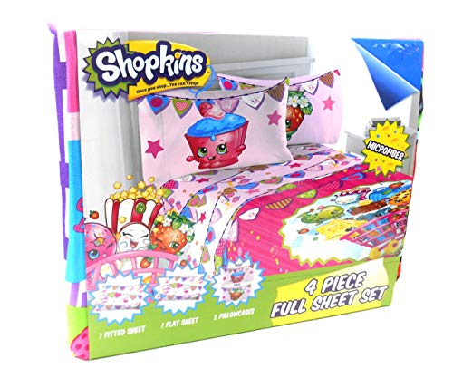 Shopkins Full Size Sheet Set
