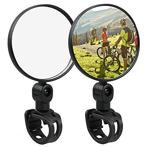 Ziyero 1 paar mini bolle reflector spiegel 360 graden rotatie reflector spiegel onbreekbare fiets spiegel schokbestendig…