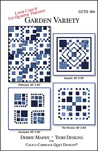 four patterns Garden Variety Calico Carriage Quilt Pattern