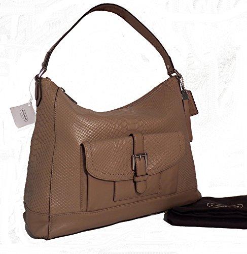 Coach Charlie Python Hobo - Camel - Python Hobo Handbag