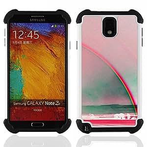 For Samsung Galaxy Note3 N9000 N9008V N9009 - rainbow art sun summer sea red teal Dual Layer caso de Shell HUELGA Impacto pata de cabra con im????genes gr????ficas Steam - Funny Shop -