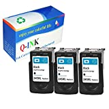 3/Pack PG 245xl Black for Canon Ink cartridges Compatible with: PIXMA MX 492 2420 2520 490
