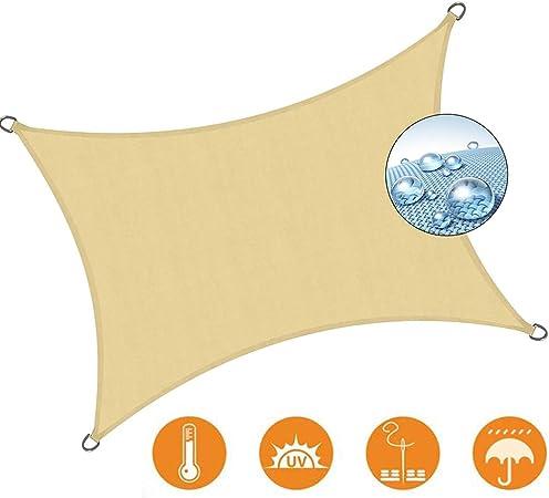 LL-WZB Toldo Vela de Sombra Rectangular Resistente e Impermeable Pergola Protección Solar Terraza Playa Camping Jardín Piscina - Beige 3.5x6.5m: Amazon.es: Hogar