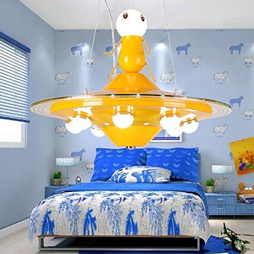 GH Bambini Lampada Camera Da Letto Maschio Extraterrestrische UFO Disco  Volante Ragazza Camera Lampadario Creativo Asilo