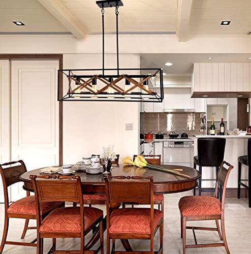 "Kitchen Chandelier Brown: Alice House 31.5"" Island Lighting, 5 Light Kitchen Pendant"