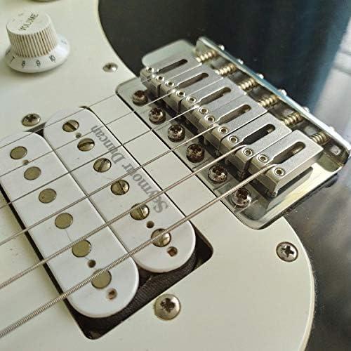5x 6-saitiger E-Gitarren-Sattel für ST TL Style Guitar Replacement
