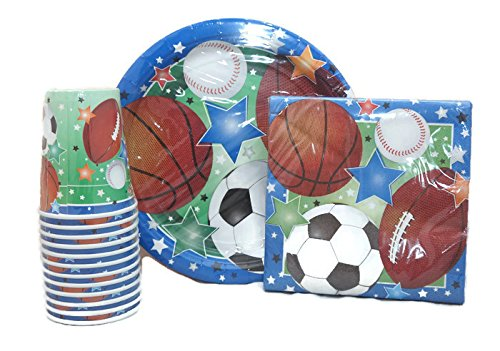 Sports Theme Party Pack Plates Napkins Cups](Sports Theme Birthday Party)
