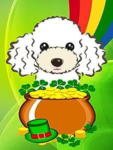 Caroline tesoros del bb2001chf blanco–día de San Patricio bandera lona casa, grandes, Multicolor