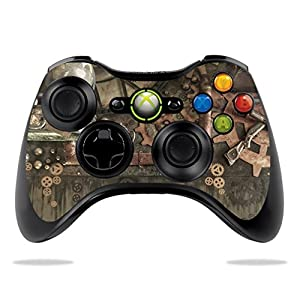 MightySkins Skin Compatible with Microsoft Xbox 360 Controller – Steam Punk Room | Protective, Durable, and Unique Vinyl…