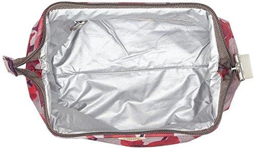 Oilily Ruffles Cosmeticpouch Mhz 3 - Pochette da giorno Donna, Rot (Dark Red), 9x15x20 cm (B x H T)