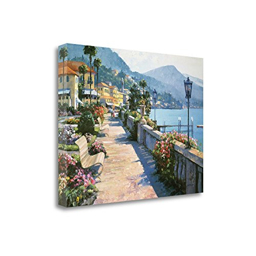 """Bellagio Promenade"" By Howard Behrens, Fine Art Giclee Print on Gallery Wrap Canvas, Ready to Hang from Tangletown Fine Art"