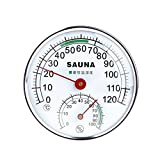 Vogvigo Sauna Thermometer Stainless Steel Case for Steam Sauna Room Thermometer Hygrometer Professional Sauna Room Accessories House Thermometer Office Thermometer
