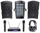 "Fender PASSPORT CONFERENCE Powered 5.25"" PA DJ Speakers+Wireless Mics+Headphones"