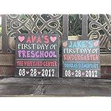 Back to School Sign, Chalkboard Style, Custom Canvas, Personalized, Preschool, Kindergarten, 7 Sizes, Student