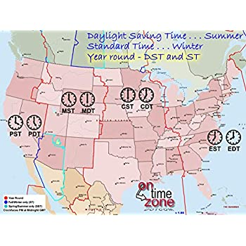 Amazoncom Home Comforts Laminated Map Time Zone Map The United - Us-map-with-zones