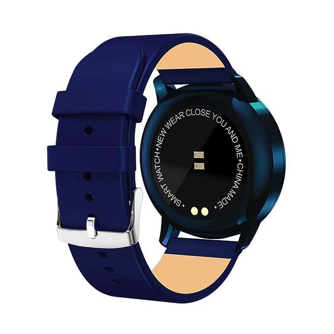 Reloj Inteligente Hombre Mujer, Modaworld Q8 Reloj Inteligente Reloj de Acero Inoxidable Dispositivo portátil Impermeable Relojes Inteligentes Relojes ...