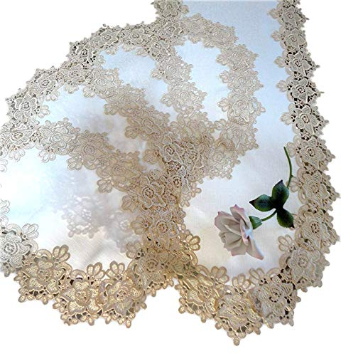 (Galleria di Giovanni Rose Lace Dresser Scarf 54