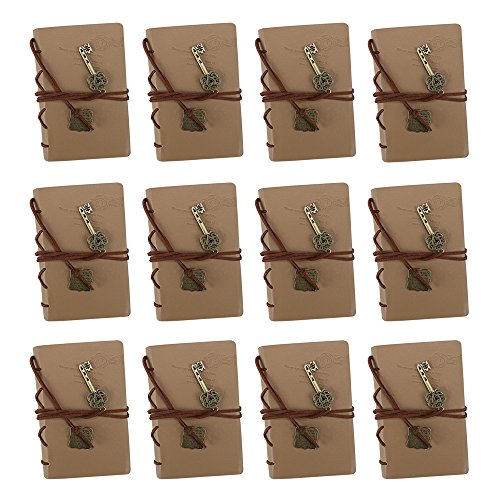 Thought Mini Journals (Mini Softcover Travel Journal with Leather Accents and Medallions by Studio Nouveau (12-Pack))