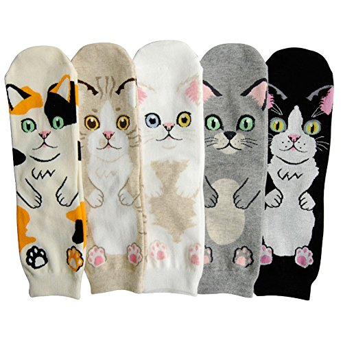Every day Women,Girls,Boys Animal Cotton Blend Casual Socks Crew Socks,One Size Fits Most (No1.)