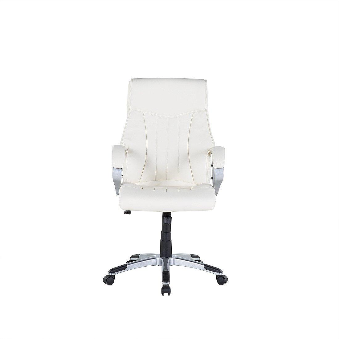 Beliani Chaise de Bureau en Simili-Cuir Beige - Triumph